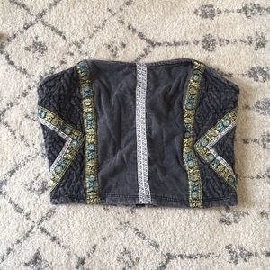 Urban Outfitters Embellished Crop Top